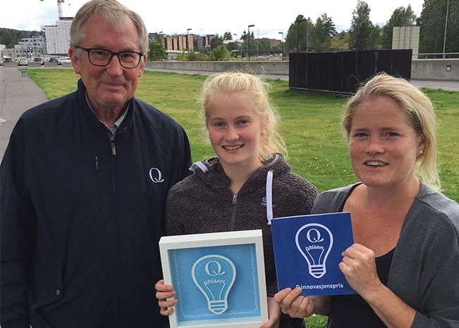 Oppfinnerne Eline og Christine fikk velfortjent Qs innovasjonspris.