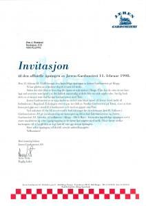 11.02.98-Invitasjon-til-den-offisielle-åpningen-av-Jæren-Gardsmeieri