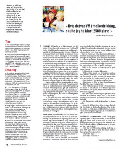 VM i melkedrikking, Dagbladet Magasinet