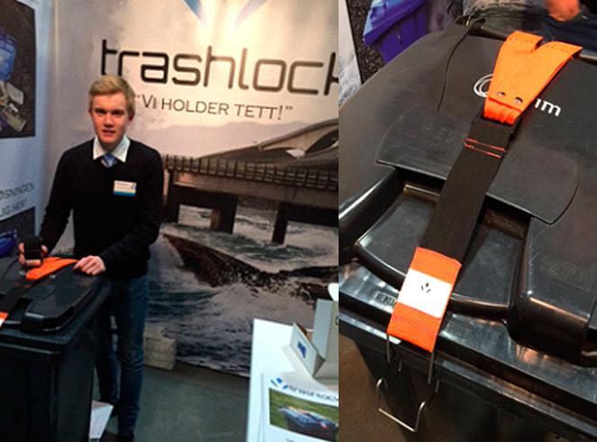 Trashlock UB vant NM for ungdomsbedrifter 2015. Bildet: økonomiansvarlige Vegard Hansen