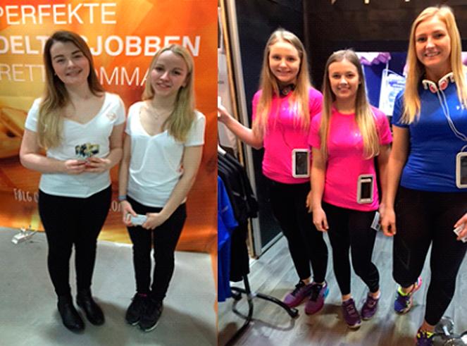 Til venstre: DinDeltid vant Ferdprisens 2. Premie: Julianne Strand og Hanne Burud Til høyre: Dfive: Heidi Sjursen,Rebekka Skog ,Solvor Ovrid