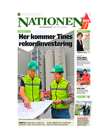 Faksimile Nationen 26.08.15-rekordinvestering