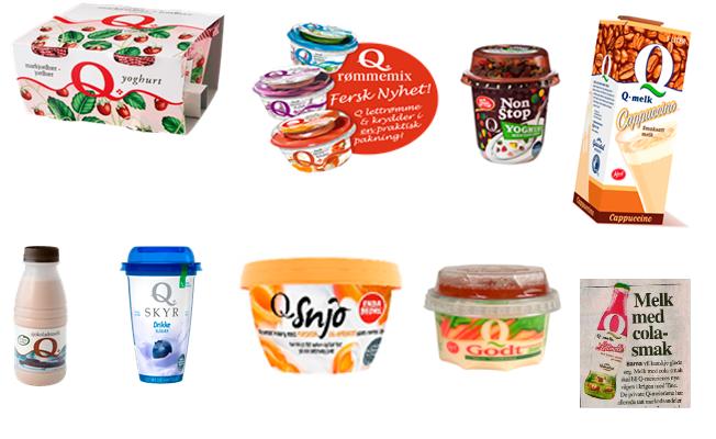 Vi i Q har mange produkter som ikke lenger er i salg og som du kanskje kan kalle feilvurderinger? Cappuccino- og colamelk. NonStop-yoghurt, Snjo Kvarg, drikkeSkyr osv osv.