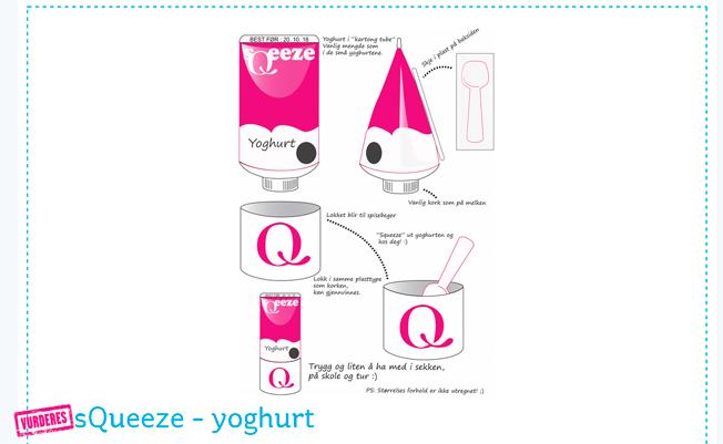 sQueeze-yoghurt er en av mange ideer som er kommet inn på Min Q