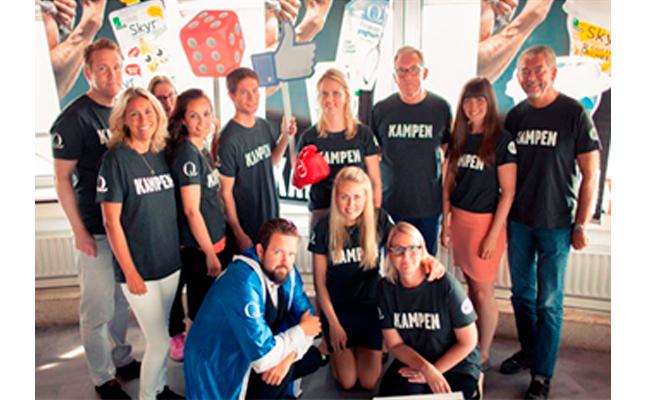 Q-teamet samlet på salgsmøte foran lansering av Skyr mini og yoghurt på pose høsten 2015. Vi er alltid spent på om de nye produktene våre får terningkast 6. Kampen består jo i å lage en vinner!