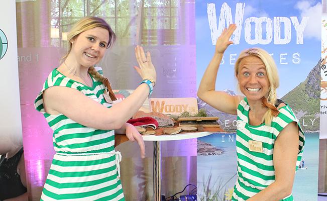 Her ser du Kari Schibevaag og Beate Kregnes Winge I Woody SB.