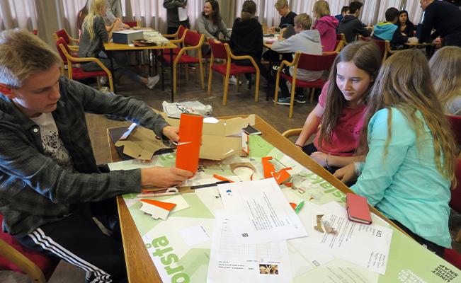 Bilde fra innovasjons campus på Nærbø ungdomsskole.
